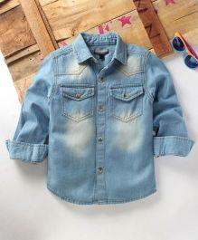 Tonyboy Boys Casual Denim Shirt - Blue