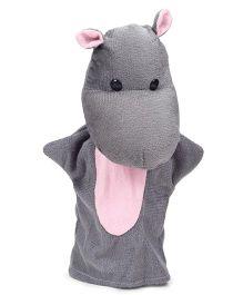 IR Hand Puppet Hippopotamus Grey - 30 cm