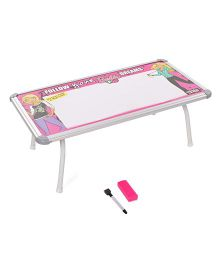 Barbie Write And Wipe Board Table - Pink White