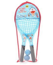 Doraemon Beach Tennis Racket Set - Blue