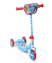 Tom & Jerry Three Wheel Scooter - Blue & Red