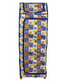 Kids Zone Big Jinny Folding Almirah ABCD Print - Blue