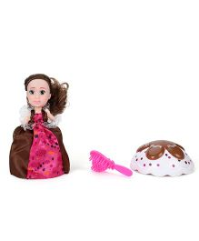 CupCake Surprise Doll With Hairbrush - Brown White