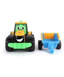 JCB My 1st Fun Farm Tractor Tim Toy - Green Blue