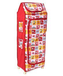 Kids Zone Hum Tum Multi Purpose Almirah Snoopy Print - Red & White