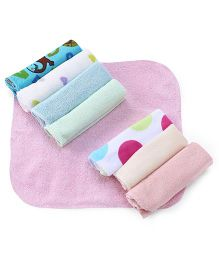 Babyhug Printed Wash Cloth Set Of 8 - Multicolor