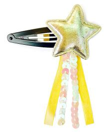 Knotty Ribbons Stars & Ribbons Snap Clip - Yellow