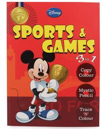Disney 3 in 1 Sports and Games Book - English