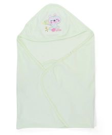Simply Hooded Wrapper - Light Green