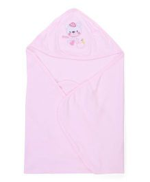 Simply Hooded Wrapper - Pink