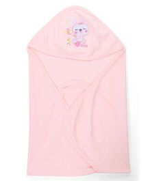Simply Hooded Wrapper - Peach
