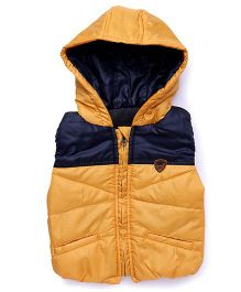 Little Kangaroos Sleeveless Hooded Jacket - Mustard Yellow
