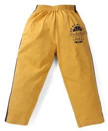 Doreme Full Length Track Pants Basketball Print - Yellow Navy