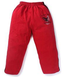 Doreme Full Length Track Pants - Black Red