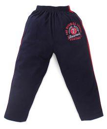 Doreme Full Length Track Pants Volley Ball Print - Navy Yellow