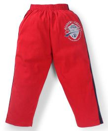 Doreme Full Length Track Pants Sports Print - Red Black