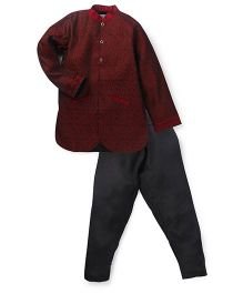 Kriti Designer Kurta Pajama Set - Maroon