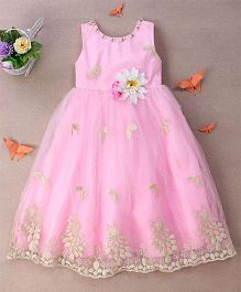 Eiora Trendy Dress With Beautiful Color Combination - Pink