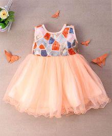 Eiora Trendy Party Wear Dress - Dark Peach