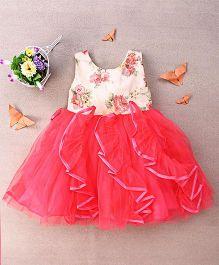 Eiora Ruffled Dress With Flower Print - Pink