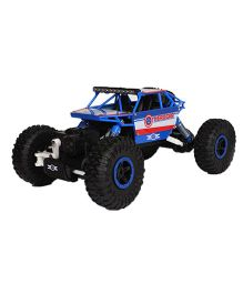 Emob Remote Controlled Rock Crawler 4WD Monster Toy Car  - Blue