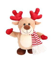 Simba Dancing Reindeer Soft Toy Brown Red - 18 cm