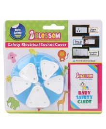 Blossom Child Proofing Electrical Socket Cover With Baby Safety Guide  - Pack Of 5