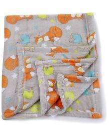 Honey Bunny Baby Blanket Multiprint - Cream