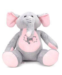 Dimpy Stuff Cute Elephant Soft Toy Grey - 62 cm