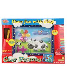 Kiddy Clay Smiley Cow Picture Play Set