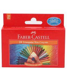 Faber Castell 24 Triangular Wax Crayons