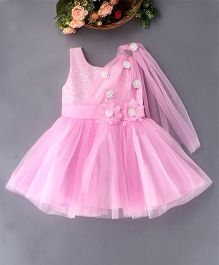 Enfance Exclusive Designer Party Dress With Small Cute Flowers - Pink