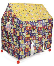 Kids Zone Wonder Play Tent House - Blue And Multi Color