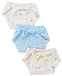 Pinehill Bum Buns Napkins Pack Of 3 - White Blue