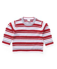 Wonderchild Striped Baby Sweater - Red & Grey