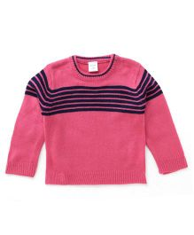 Wonderchild Baby Pull Over Sweater - Pink & Navy