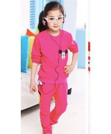 Wonderland Cute Top & Pant  Winter Set - Hot Pink