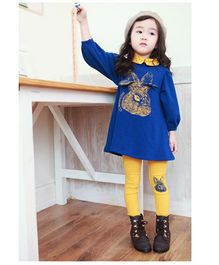 Wonderland Cute Top & Pant Winter Set - Blue