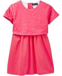 Andy & Evan Stars Print Short Sleeve Dress - Pink