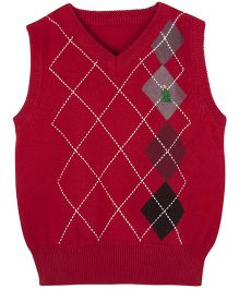 Andy & Evan Stylish Sweater Vest - Red