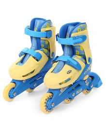 Minions 2 in 1 Inline Adjustable Roller Skate Small Size - Blue And Yellow