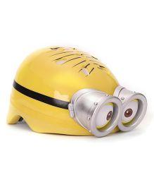 Minions Dave Round Shape Helmet - Yellow