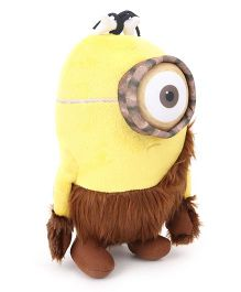 Minions Caveman Large Soft Toy Yellow Blue - 25 cm