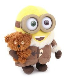 Minions Ice Age With Bear Soft Toy Yellow Brown - 16 cm