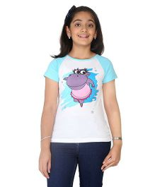 Imagica Raglan Sleeves T-Shirt - White