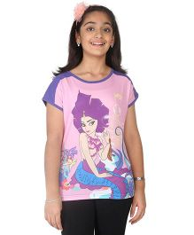 Imagica Half Sleeves T-Shirt - Puprle