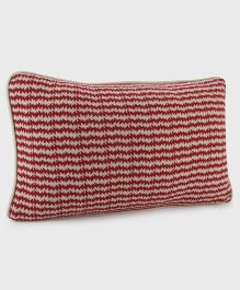 Pluchi Cotton Knitted Cushion Cover - Red