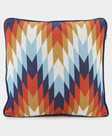 Pluchi Cotton Knitted Cushion Cover - Multicolor