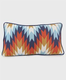 Pluchi Printed Cotton Knitted Cushion Cover - Multicolour