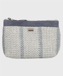Pluchi Cotton With Leather Pouch - Grey & Silver